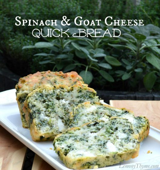 Spinach & Goat Cheese Quick Bread | LemonyThyme.com