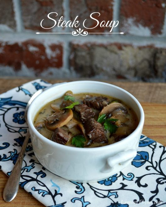 Steak Soup from LemonyThyme.com