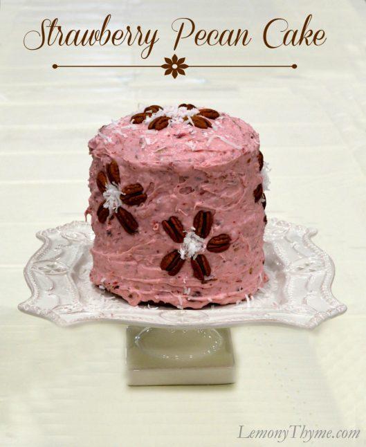 Strawberry Pecan Cake from Lemony Thyme