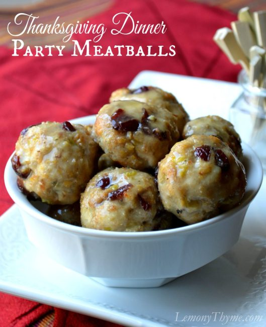 Thanksgiving Dinner Party Meatballs