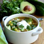 White Chicken Chili with Fire Roasted Poblano Peppers