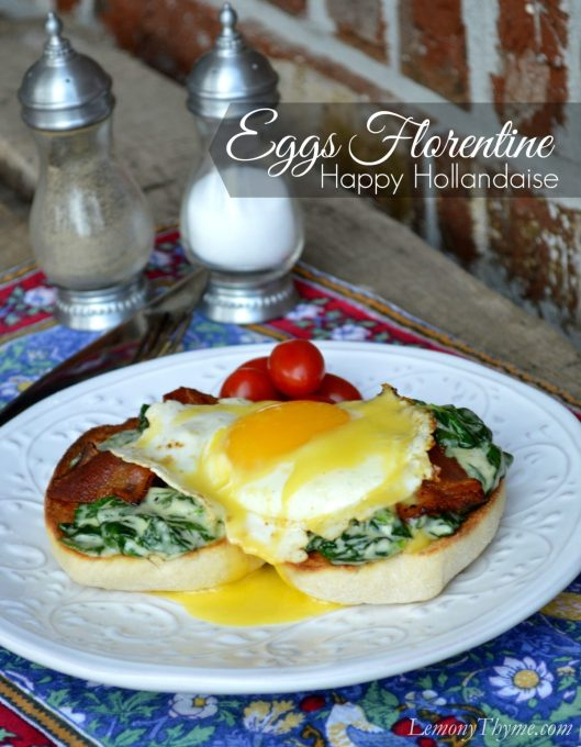 Eggs Florentine with Hollandaise Sauce