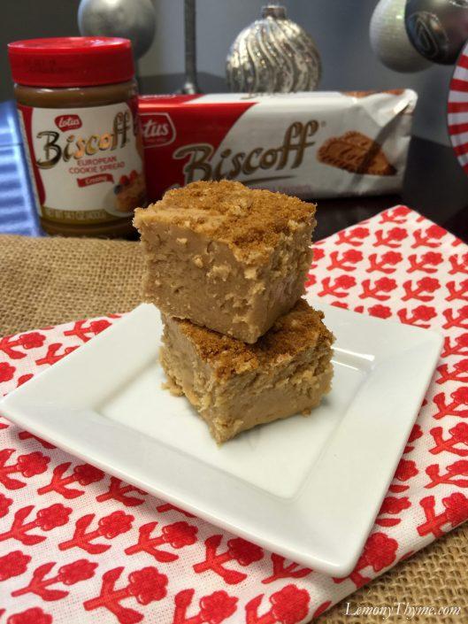 European Cookie Butter Fudge1 | LemonyThyme.com | #biscoff #fudgerecipe