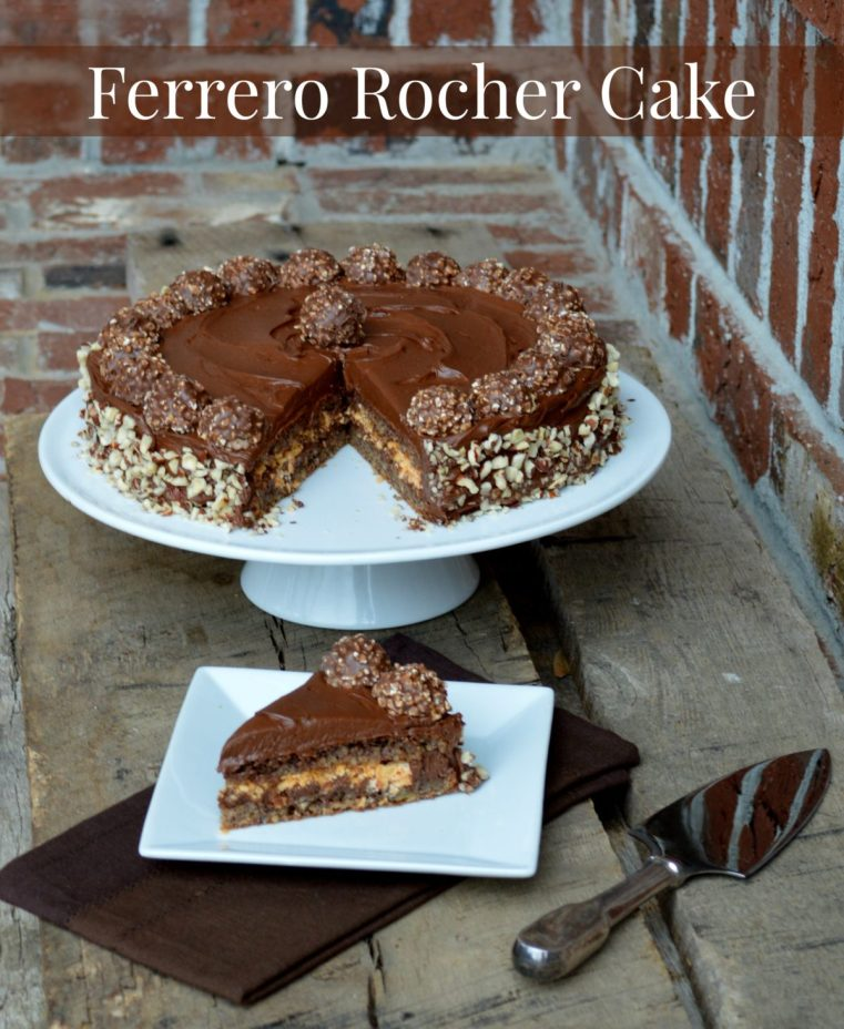 Ferrero Rocher Cake   LemonyThyme.com   #adventuresinchocolate