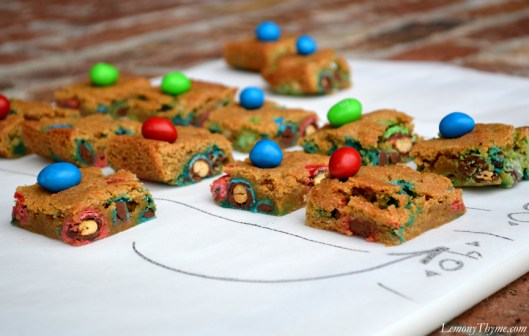 Game Day Blondies with Peanut M&Ms2