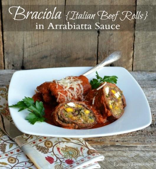 Braciole Italian Beef Rolls | LemonyThyme.com