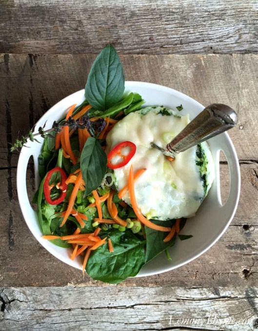 Thai Basil Egg White Omelet Bowl11