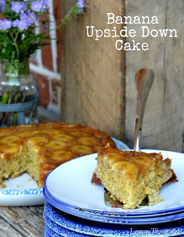 Banana Upside Down Cake   LemonyThyme.com