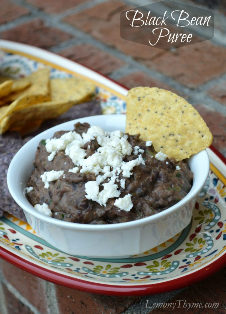 Black Bean Puree | LemonyThyme.com