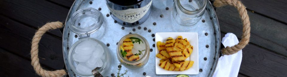 Gin & Tonic with Lemony Thyme & Grilled Pineapple6