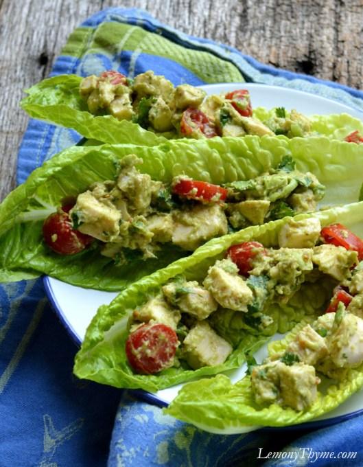 Avocado & Chicken Salad Boats4