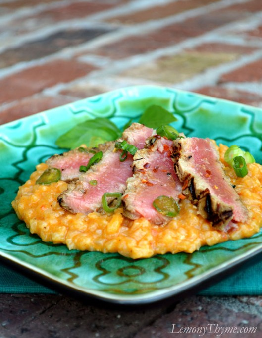 Seared Ahi Tuna on Thai Risotto7