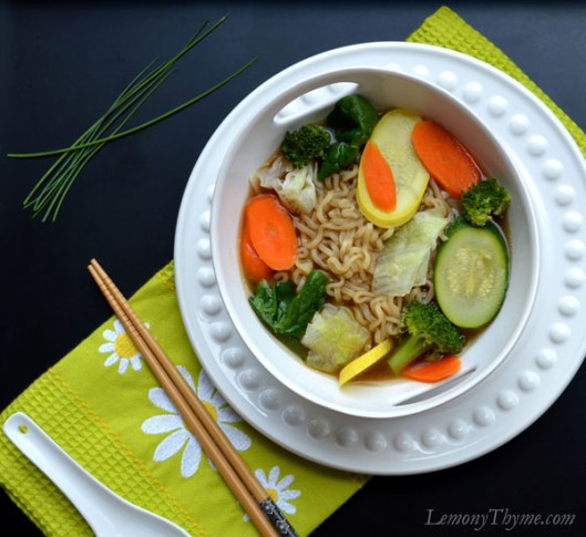 Steamed Veggie Ramen Broth Bowl with Fried Egg2