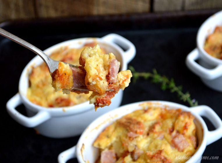 Rosemary Ham & Swiss Savory Bread Pudding4