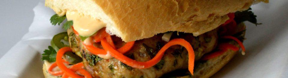 Vietnamese Chicken Banh Mi Sandwich | LemonyThyme.com