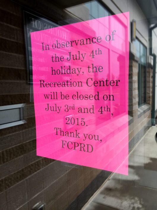 July 3rd Rec Center Bulletin