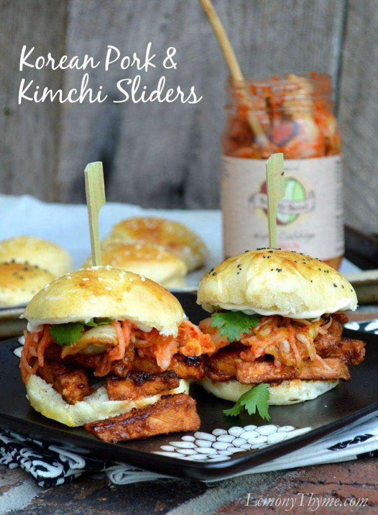 Korean BBQ Pork Kimchi Sliders