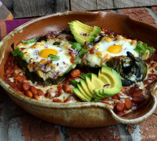 Savory Egg Stuffed Poblano Peppers4