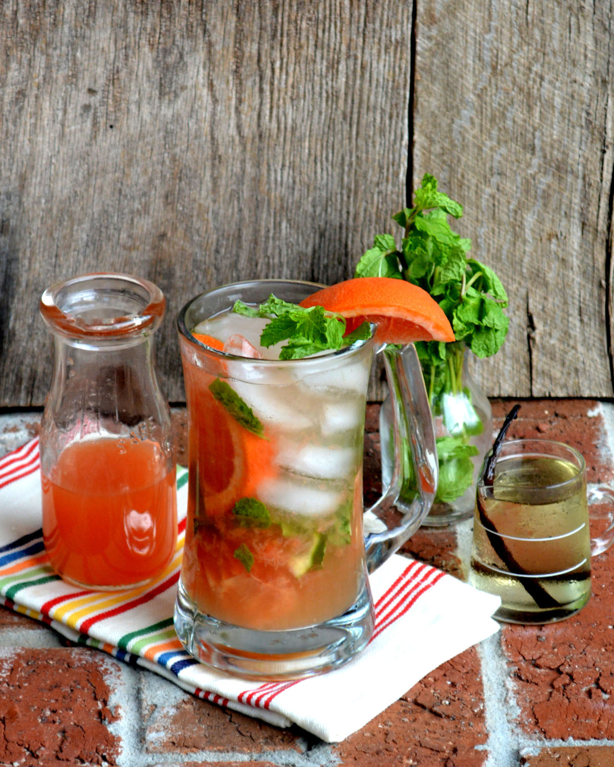 Red Grapefruit Mojito with Vanilla Simple Syrup1