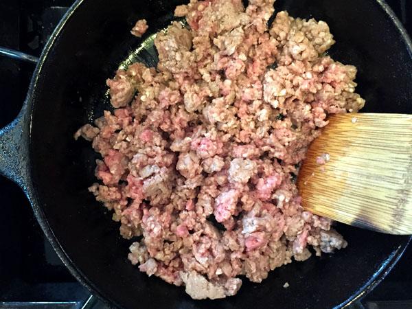 Cheesy Beef Enchilada Dip Step 1