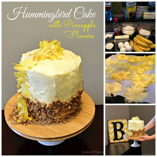 Hummingbird Cake Collage