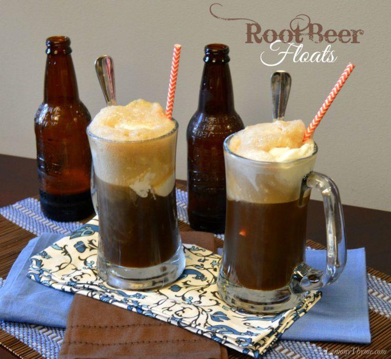 Root Beer Floats | LemonyThyme.com