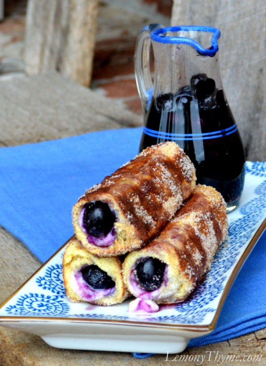 Blueberry Cream Cheese French Toast Roll Ups3