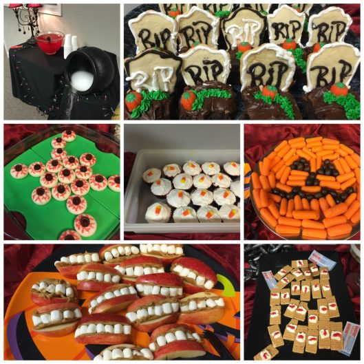 Halloween Buffet Collage | LemonyThyme.com