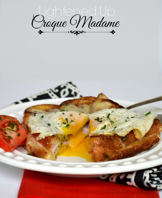 Lightened Up Croque Madame | LemonyThyme.com