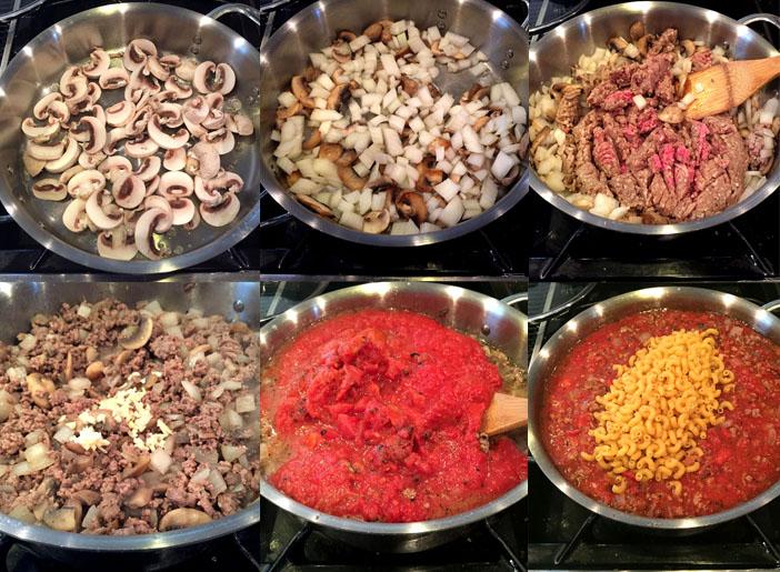 One Pot Homemade Beefaroni Steps