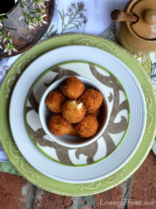 Warm Goat Cheese Fritters3