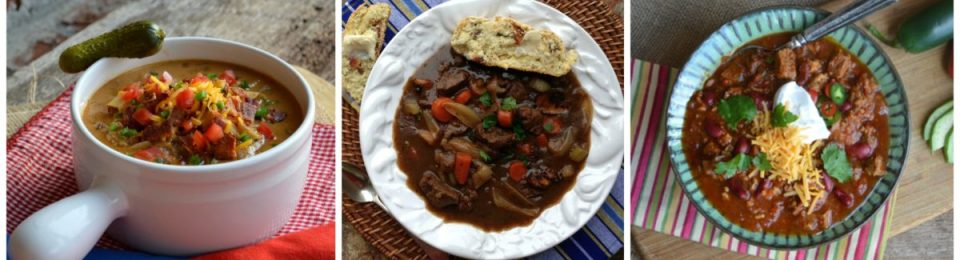 Winter Soups Stews Chilis Collage