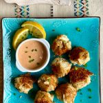 Crab Cake Balls with Homemade Remoulade Sauce is the perfect pairing.