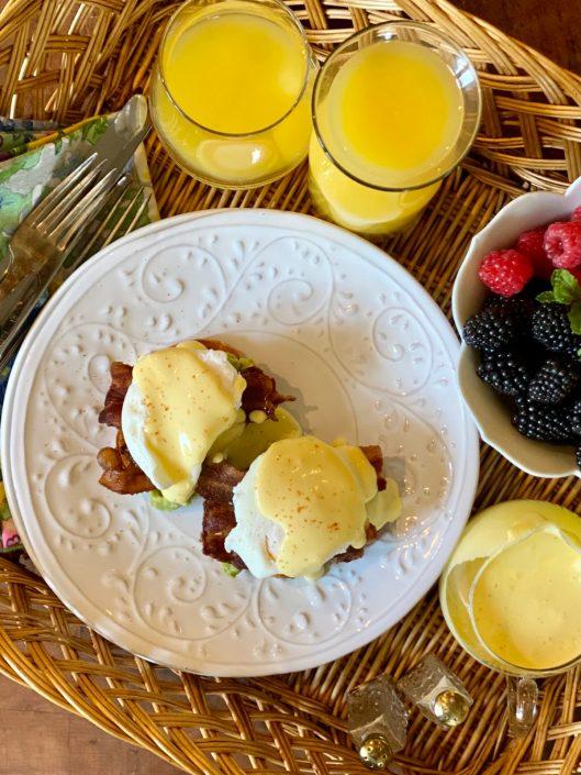 Sweet Potato Eggs Benedict Hollandaise Layer