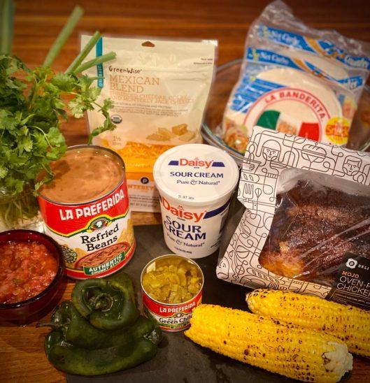 Loaded Easy Chicken Enchiladas Casserole Ingredients