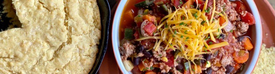 Turkey & sweet potato southwest chili