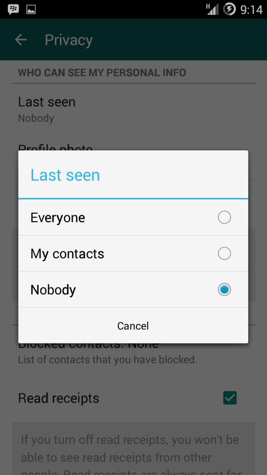 Last Seen, WhatsApp, Cara menyembunyikan Last Seen WhatsApp