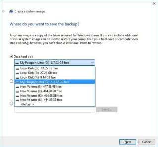 choose-drive windows 10