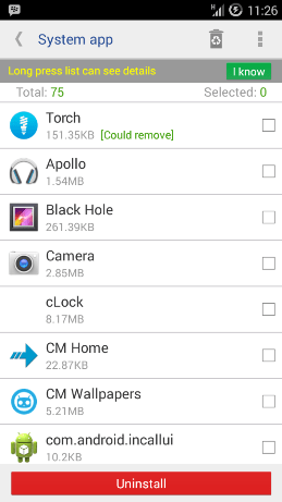 uninstall aplikasi bawaan android