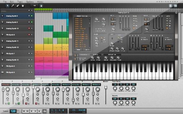 audiosauna online music editor