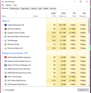 task manager, windows