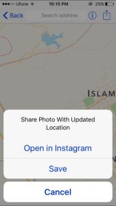 mappr mengubah lokasi foto iphone