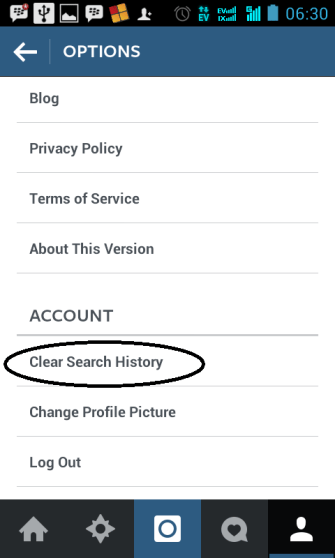 Menghapus Search History Atau Riwayat Pencarian