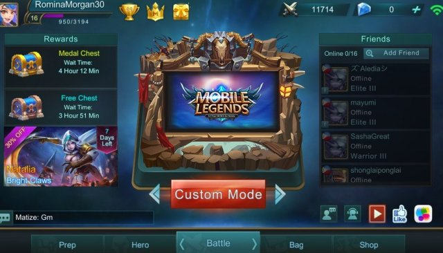 Pilih Custom Mode