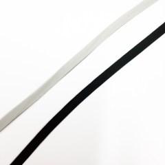 Kuminauha valkoinen ja musta Kangaskauppa Lempala