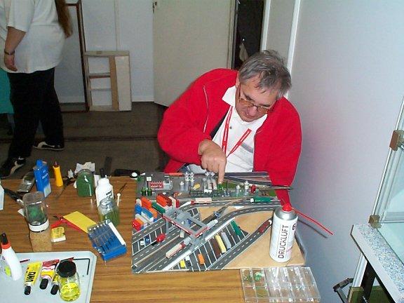Peter mit Baustelle Nr. 1