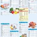 Таблица расчёта энергии и калорий