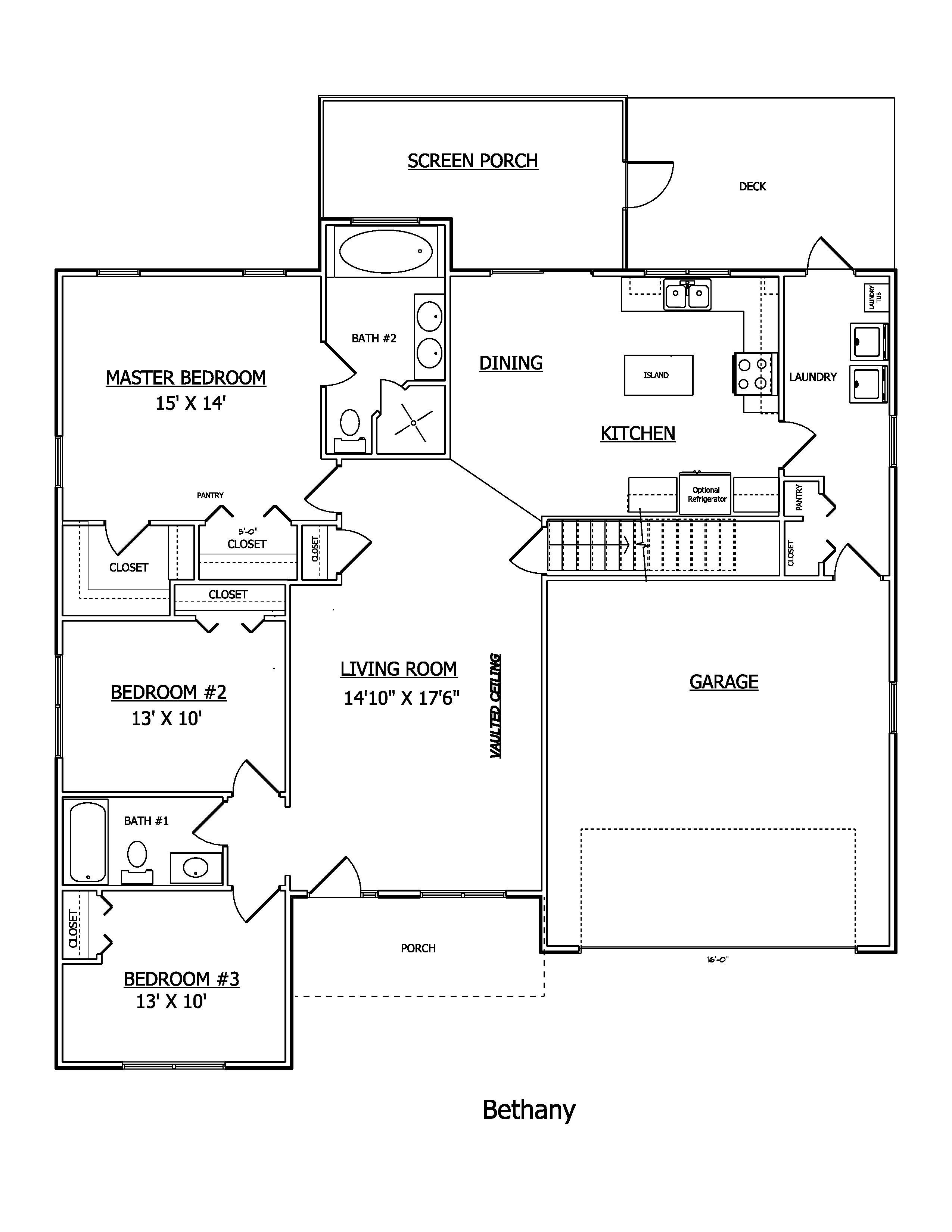 Floor plan the bethany bowers landing lenape builders for Share builders plan
