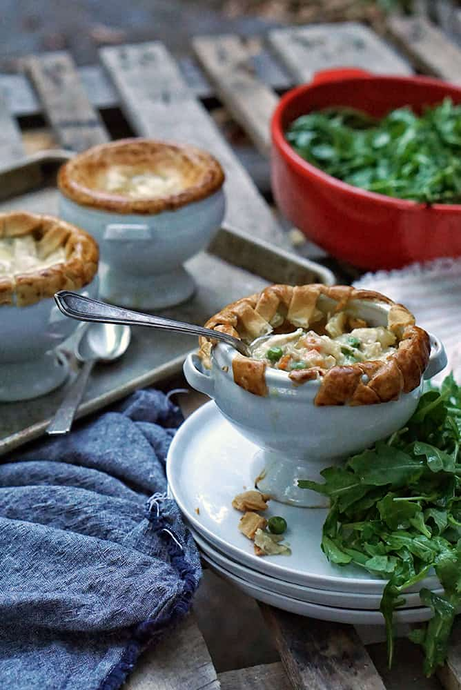 FLAKY MINI CHICKEN POT PIES