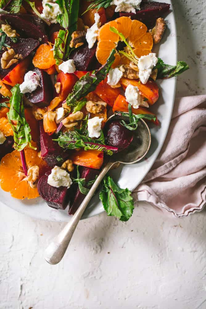 Delicious Beet salad with citrus and tarragon dressing